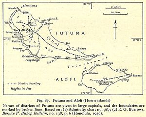 Futuna (Wallis and Futuna) - Hoorn Islands (Futuna and Alofi) with Futuna Island in the northwest