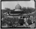 GENERAL VIEW SHOWING SOUTH AND WEST FACADES - Carnegie Library, 402 East Oklahoma Avenue, Guthrie, Logan County, OK HABS OKLA,42-GUTH,1D-2.tif