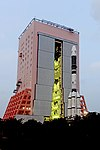 GSLV F11 GSAT-7A campaign- Vehicle roll out 04.jpg