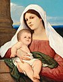 Gabriel von Max - Madonna and Child in an open landscape.jpg