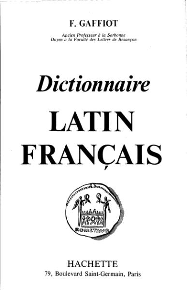 File:Gaffiot - Dictionnaire illustré Latin-Français.djvu