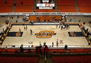 Henry Iba - Inside Gallagher-Iba Arena January 22, 2005.