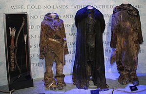 Jon Snow (character) - The costumes of Ygritte, Jon Snow, and  Tormund Giantsbane in the show