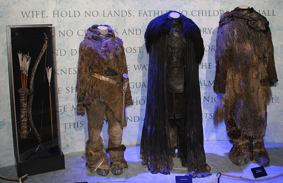 Game of Thrones Oslo exhibition 2014 - Ygritte, Jon and Tormund costumes
