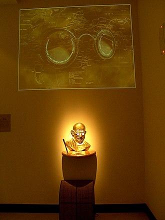 Eternal Gandhi Multimedia Museum - Gandhiji' Vision an exhibit, at Eternal Gandhi Multimedia Museum