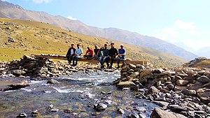 Gangabal Lake - Group going to Gangabal lake
