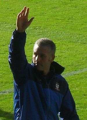 Gary Mills (footballer, born 1961) - Mills before his first match in charge as York City manager on 16 October 2010