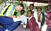 Gary White Visits Local Schools - Bahamas
