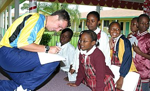 Gary White Visits Local Schools - Bahamas
