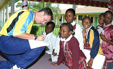 Afro-Bahamian children at a local school Gary White Visits Local Schools - Bahamas.JPG