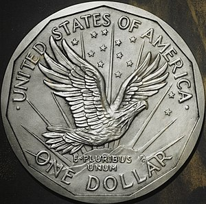 Susan B. Anthony dollar - Gasparro's proposed design for the obverse and reverse of the dollar coin.
