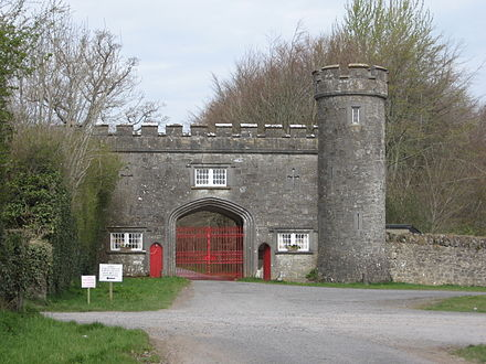 Front entrance of Tullynally Castle, Castlepollard.