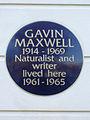 Gavin Maxwell 1914 - 1969 Naturalist and writer lived here 1961 - 1965.jpg