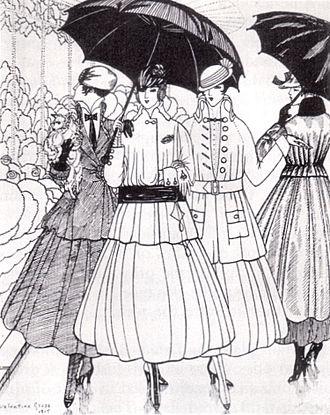 "Jeanne Lanvin - Designs by Mme Lanvin in ""La Gazette du Bon Ton"", 1915"