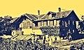 Geburtshaus von Pedro Meier in Wangen an der Aare, Schweiz, Gemüsegärtnerei im Unterholz, altes Familienfoto 1918. Archiv © Pedro Meier Multimedia Artist.jpg