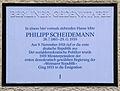 Gedenktafel Lenbachstr 6a (Stegl) Philipp Scheideman.JPG