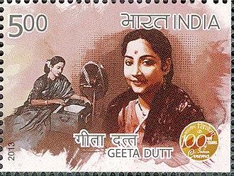 Geeta Dutt - 2013 stamp of India featuring Dutt