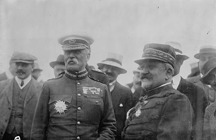 Field Marshal French (left) in Paris General Sir John French in Paris, Bain photograph.jpg