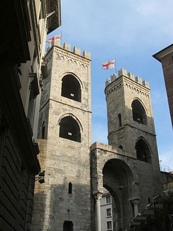 Medieval gates of Genoa are a rare survivor of the city's oldest buildings.