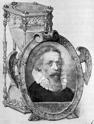 Georg Flegel - Self portrait with hourglass, 1630