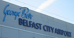 George Best Belfast City AirportAerfort Chathair Bhéal Feirsteport lotniczy Belfast-City George Bestport lotniczy City im. George'a Besta w Belfascie