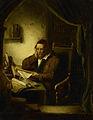 George Gillis Haanen - Oude man in zijn studeervertrek.jpg