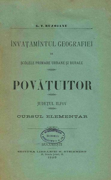 File:George T. Buzoianu - Povățuitor. Județul Ilfov - cursul elementar.pdf