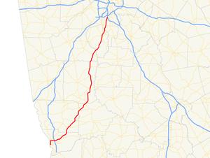 Georgia State Route 85 - Image: Georgia state route 85 map