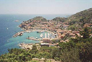 Giglio Porto Frazione in Tuscany, Italy