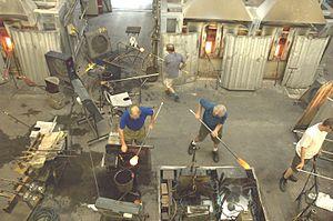 Dartington Crystal - Glass blowers at Dartington Crystal