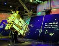 Glonass K Navigation Spacecraft model at Cebit 2011 Satellite, general view from the right.jpg