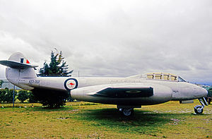 No. 23 Squadron RAAF - Gloster Meteor T.7 trainer of No. 23 Squadron preserved after retirement from service in 1960.