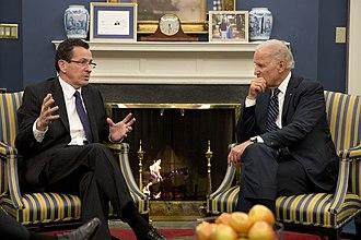 Dannel Malloy - Malloy meets with Vice President Joe Biden in 2013