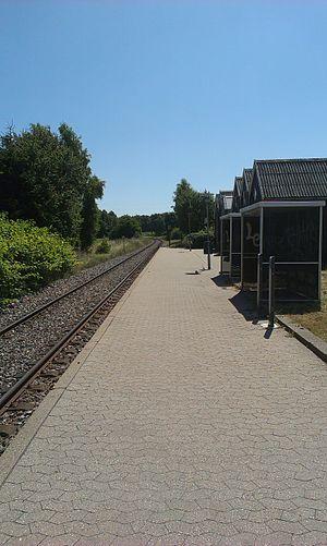 Græsted South railway halt - Græsted South railway halt in 2013