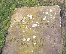Grabstein auf dem Neustädter Friedhof in Hannover (Quelle: Wikimedia)