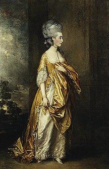 Grace Elliott, eine der Geliebten des Prinzen von Wales, Gemälde von Thomas Gainsborough, 1778 (Quelle: Wikimedia)