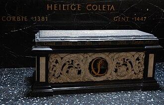 Colette of Corbie - Image: Grafsteen Coleta 28 04 2009 14 59 12