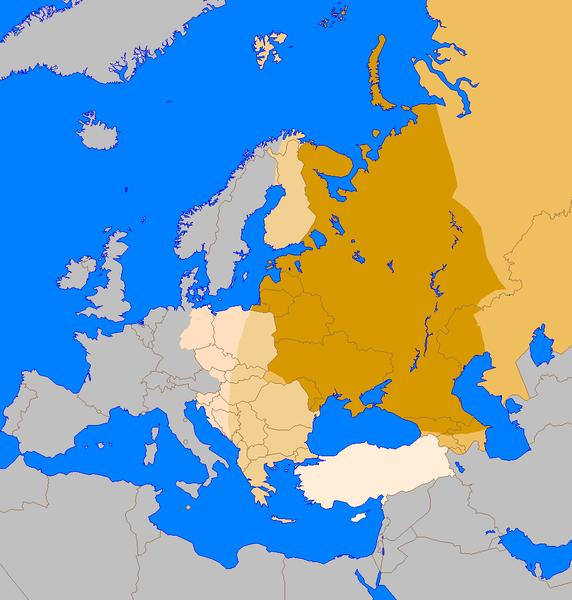 mapa europa del este. Paises-De-Europa
