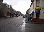 Grantown on Spey. The main street in Grantown on Spey on a fairly miserable day in October.