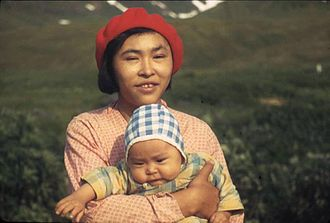 Aleut - Attu Aleut mother and child, 1941
