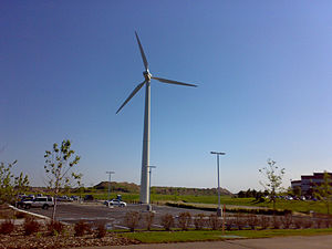 Great River Energy - The NEG Micon M700 wind turbine at the Great River Energy headquarters in Maple Grove
