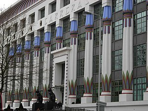 Mornington Crescent, London - The Art Deco Carreras Building