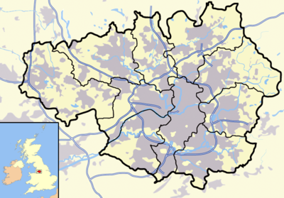 Location map United Kingdom Greater Manchester