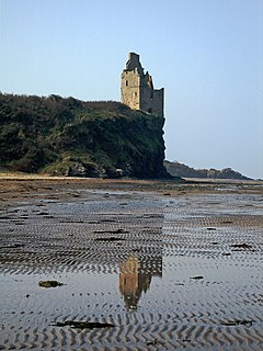 Greenan Castle castle in South Ayrshire, Scotland, UK