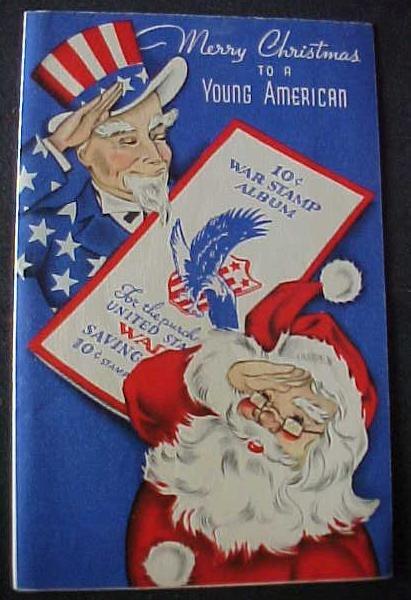 Greeting Card Christmas War Stamp Album 1940