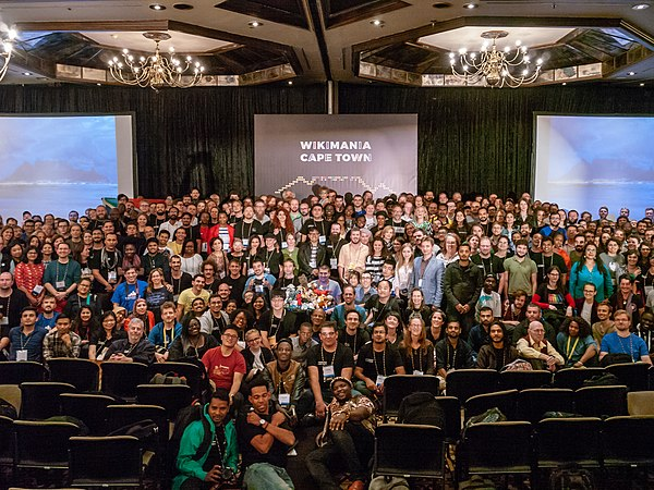 Wikimania 2018 group photograph.