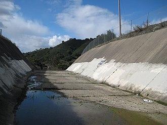 Guadalupe Reservoir - Guadalupe Reservoir's spillway