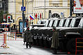 Guarding military trucks in Moscow.jpg