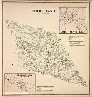 Guilderland, New York - 1866 map of Guilderland