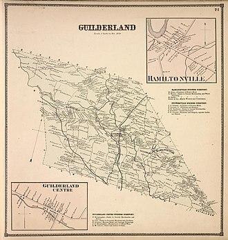 Guilderland, New York - 1866 map of Guilderland